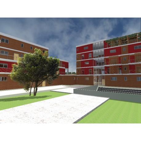 Progettazione di complessi residenziali con annessi locali for Progettazione di piani abitativi residenziali